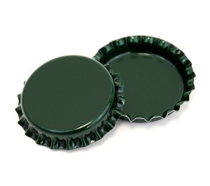 Two Sided Green Bottle Caps Standard