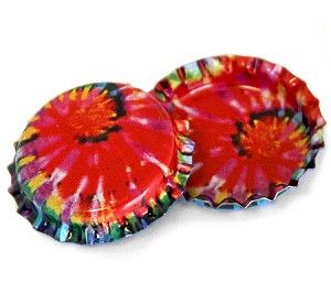 Two Sided Tie Dye Bottle Caps Standard