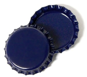 Two Sided Blue Bottle Caps Standard