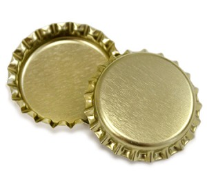 Two Sided Gold Bottle Caps Standard