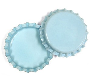 Two Sided Light Blue Bottle Caps Standard
