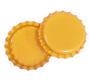 Two Sided Sunflower Yellow Bottle Caps Standard