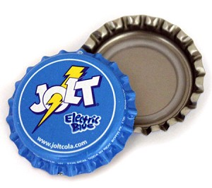 Vintage Bottle Caps, Jolt - Electric Blue